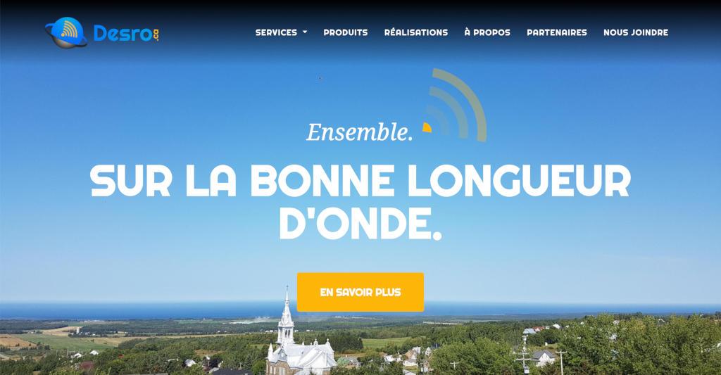 Aperçu site web Desro.ca